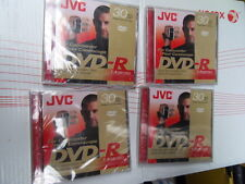 Lot of 4 dvd-r recordable for camcorder jvc 30mm 1.4gb/go