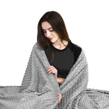 """Weighted Gravity Blanket Cover Queen Size Reduce Anxiety Deep Sleep 48"""" x 72"""""""