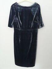 BNWT BODEN MARTHA VELVET DRESS. STUNNING BLUE FULLY LINED 12R RRP £150.