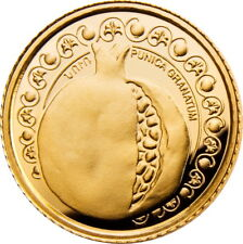 ARMENIA 500 DRAM GOLD .999,9 COIN PROOF 2011 Armenian Pomegranate