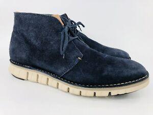 Cole Haan Grand.OS Chukka Zerogrand Navy Blue Suede Boots Men's Sz 10M C22023