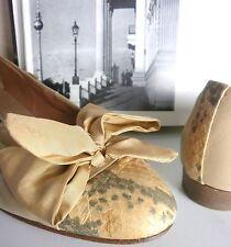 LADYSTAR Damen Ballerinas Pumps TRUE VINTAGE UK 6 handmade satin apricot Gr. 39