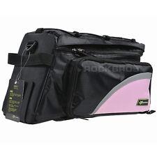 New Rockbros Bike Bag Rear Carrier Bag Rear Pack Trunk Pannier Pink