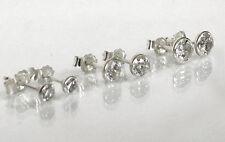925 Echt Silber *** 3 PAAR Ohrstecker in 3,5 - 4,5 - 5,5 mm, Zirkonia weiß