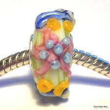 'MINT STARFISH' Green/Multicolour Seaside Animal Murano Glass European Charm