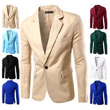 Men's Suit Coat Regular Blazer 1-Button Business Casual Soft Slim Jacket Summer