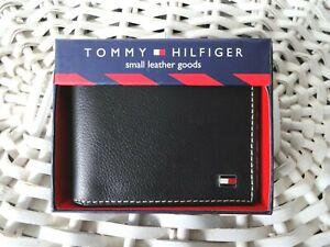 Men's Leather Wallet 'Tommy Hilfiger' Bifold, BLACK, Coin Pouch, MRP $60.00,SALE