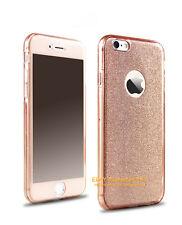360º UltraThin Clear Bling Glitter TPU Case Cover For iPhone 5 5S 6 6S 7 Plus SE