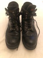 Harley Davidson Motorcycles Black Lace Up Boots Size 11