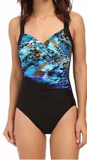 NWT New MIRACLESUIT Sanibel Blue Attitude Underwire Tank One Piece Swimsuit 12