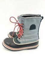 SOREL WOMEN'S PREMIUM CVS Heavy Snow BOOTS Size 10.5 Blue/Black NL1717-938