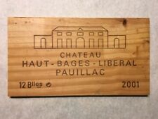 1 Rare Wine Wood Panel Chateau Haut Bages Vintage Crate Box Side 5/18 771
