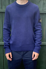 Mens Stone Island Knitted Jumper Size Medium. Dark Blue
