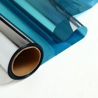 Blue&Silver Reflective Window Film Sticker One Way Mirror Solar Tint Sun Reduce