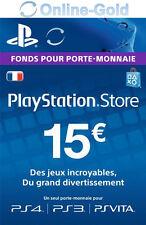 15 EUR Carte PlayStation PSN Network Compte français Code Jeu PS4 PS3 PS Vita FR