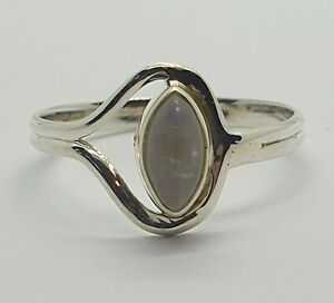 Brand New Sterling Silver 925 Moonstone Ring, Size Q