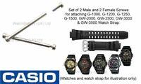 Casio Watch Strap Band Screws G-1000 G-1010 G-1500 GW-2000 GW-3000B &more - Qty4