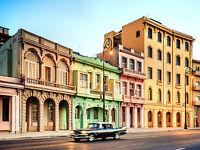 print Vintage Cuba Havana Car  Art Deco Poster Art Painting