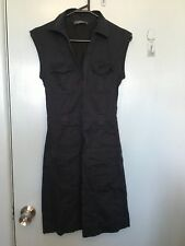 Marcs navy sleeveless shirt dress in size 6