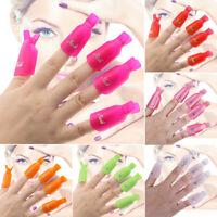 5/10pcs Colorful Nail Soak Off UV Gel Art Polish Remover Wrap Gelish Clip Cap