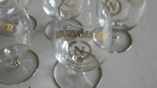 Courvoisier Cognac Mini Brandy Snifter-Stemmed- Gold Design- SET OF 6