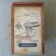 VENGANZA Cornelius Anthony Cigar Box EMPTY SlideLid Storage JEWLERY/DECOR