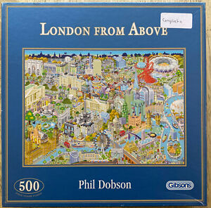 Gibsons London from Above Jigsaw Puzzle, 500 piece Complete