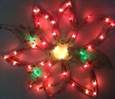 "Lighted Poinsettia Indoor/Outdoor Christmas Decoration 18"" Vinyl"