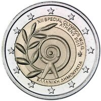 Griechenland 2 Euro 2011 Sommerspiele der Special Olympics in Athen bankfrisch
