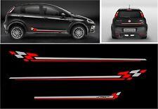 Fiat punto grande abarth rayas laterales y traseras Sport Calcomanías Pegatinas Todos Los Colores