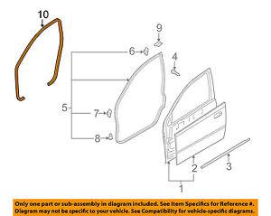 Chevrolet GM OEM 08-11 Aveo5 Front Door-Weatherstrip Seal on Body 96467380