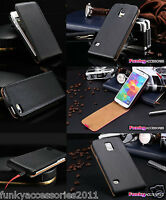 Genuine Real Leather Ultra Slim Top Flip Vertical Phone Case Cover+Stylus Pen