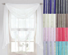 Voile Scarves 3m or 5m Length, Sashes, Net Curtains Swags & Scarf Voile Panel