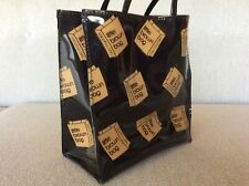 Vintage BLOOMINGDALES Little Brown Bag Vinyl Tote Shopping BAG Reusable **