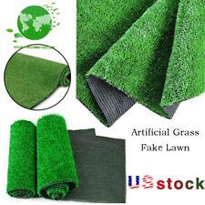 Artificial Fake Green Synthetic Grass Rug Garden Landscape Lawn Carpet Mat Turf