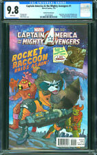 CAPTAIN AMERICA & THE MIGHTY AVENGERS 1 CGC 9.8 Guardians Galaxy Rocket Raccoon