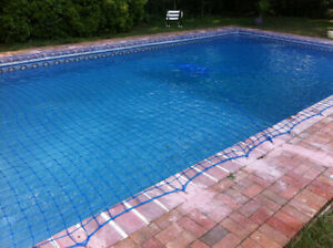 Water Warden Pool Safety Net System for In-Ground Pool - Choose Pool Size