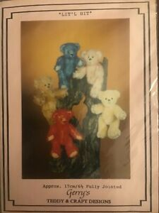 """""""Lit'l Bit' Teddy Bears Craft Sewing Pattern - 17cm Fully Jointed"""