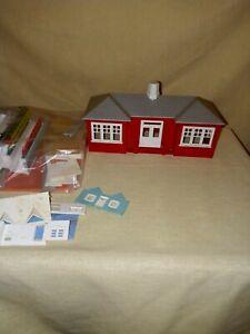 VINTAGE PLASTICVILLE BUILDINGS + ONE HOUSE