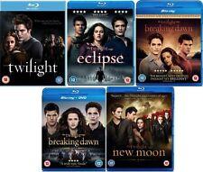 TWILIGHT SAGA 1-5 Blu ray Set All 5 Movie Film NEW MOON ECLIPSE BREAKING DAWN 2
