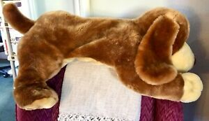 """HUGE! 38"""" ANIMAL ALLEY 2000 DARBY FLOPPY PUPPY DOG PLUSH STUFFED PILLOW SOFT TOY"""