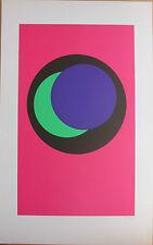 CLAISSE Geneviève Sérigraphie signée abstrait géométrique op art 1967 cercles *