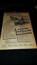Adventures Of Tom Sawyer Rare Original 1958 Promo Poster Ad Framed!