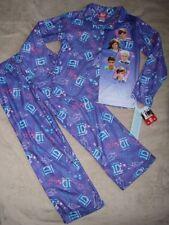 ONE DIRECTION 1D Flannel Button-Up Coat L/S Shirt Pajamas Pjs Girls sz 6/6x