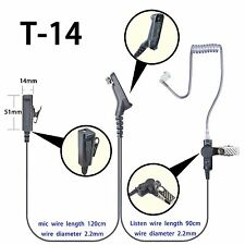 2-wire Surveillance Headset for Motorola Apx2000 Apx5000 Apx6550 Portable Radio