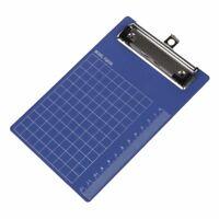 Pad Clip Holder Folder Plastic Clipboard Blue Purplefor paper A6 S3H3