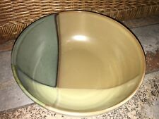 "Sango ""Gold Dust Green"" Large Ribbed Vegetable Serving Bowl 9 1/4'' #5040"