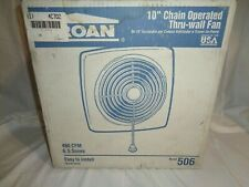 Broan 10� Chain Operated Thru-Wall Exhaust Fan Model #506 480 Cfm 6.5 Sones Nib
