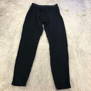 Icebreaker Women's S Black Base Layer Pants Bodyfit 260 Merino Wool
