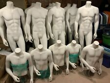 Fiberglass 15 Male Mannequin With Metal Stand 11 Standing And 4 Counter